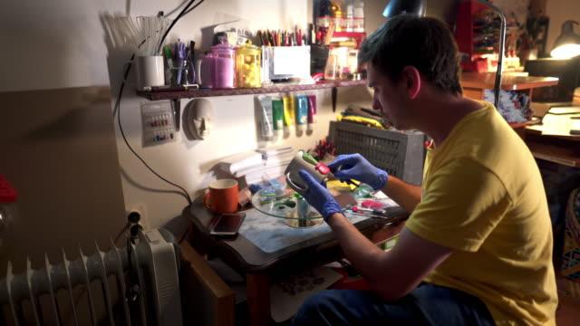creative workshop - cactus drawing stock videos & royalty-free footage