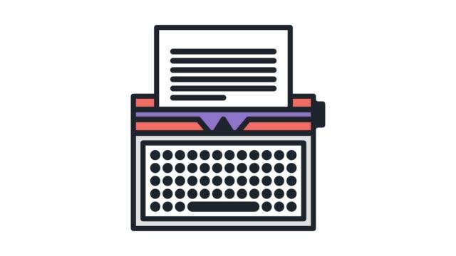 kreativt skrivande kurs linje ikonen animation med alpha - litteratur bildbanksvideor och videomaterial från bakom kulisserna