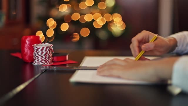 creativity. child making greeting cards. - parte de una serie video stock e b–roll