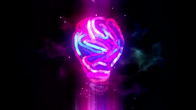 creativity light bulb abstract - intellectual property stock videos and b-roll footage
