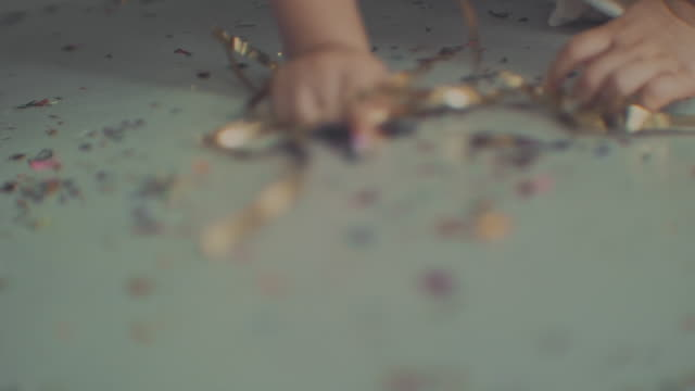 creativity & messy confetti - 2 3 years stock videos & royalty-free footage