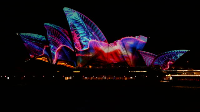 Creatures by Ash Bolland illuminates the sails of the Sydney Opera house during Vivid Sydney on June 6 2017 in Sydney Australia Vivid Sydney is an...