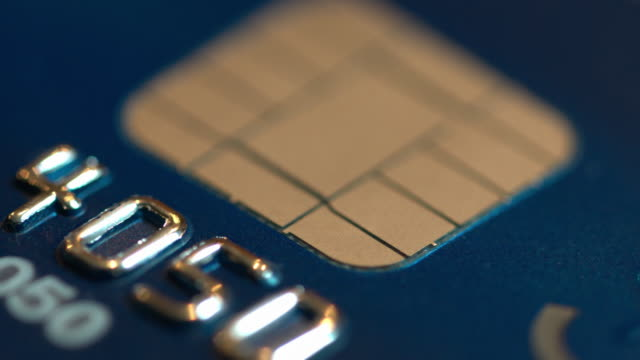 credit card chip - credit card stock videos and b-roll footage