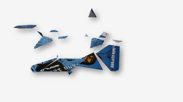 vídeos de stock e filmes b-roll de cgi credit card falling and breaking apart / cape town, south africa - the end