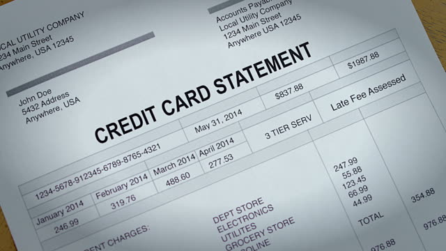Credit Card Past Due Bill