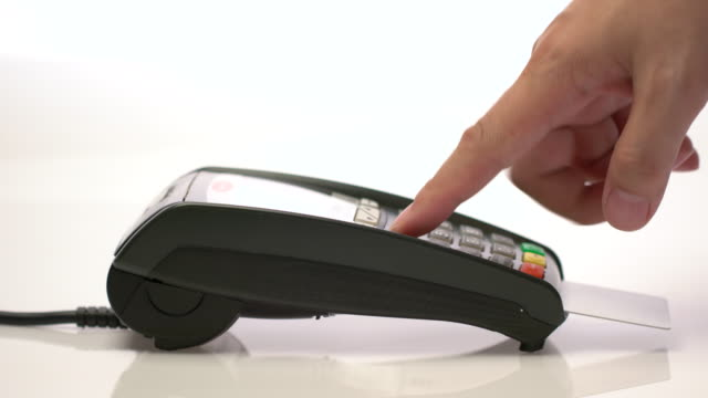 4k credit card payment, buy, sell & shopping products & service dolly shot - receipt stock videos & royalty-free footage