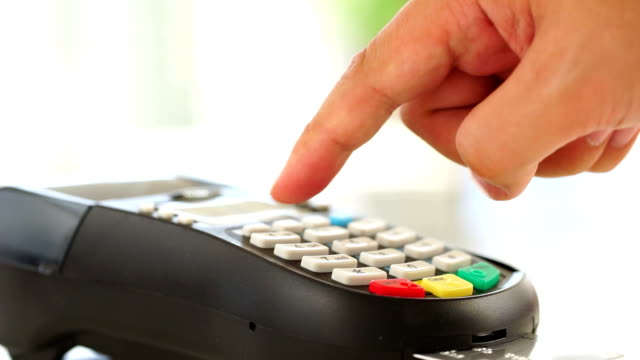 credit card payment, buy, sell & shopping products & service - punch card reader stock videos & royalty-free footage