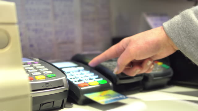 credit card payment - punch card reader stock videos & royalty-free footage