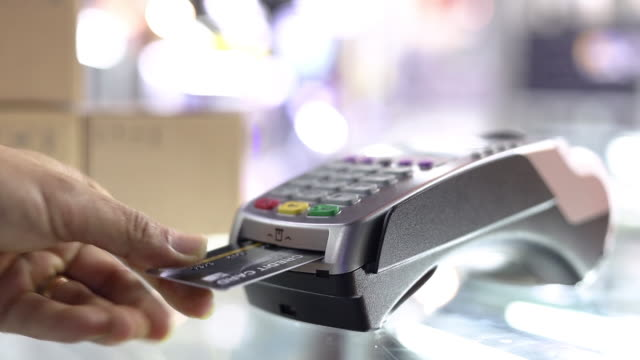 credit card payment,credit card. - credit card reader stock videos & royalty-free footage