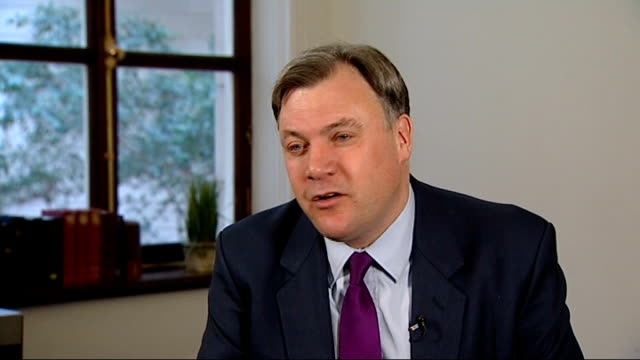 credit ratings agency moody's has downgraded the uk's credit rating; london: int ed balls mp interview sot - i think the credit ratings agencies have... - dose stock videos & royalty-free footage