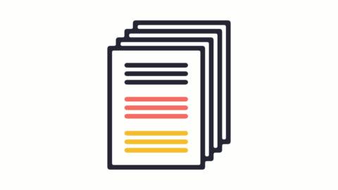 クレジット レポート ライン アイコンのアルファを持つアニメーション - paperwork点の映像素材/bロール
