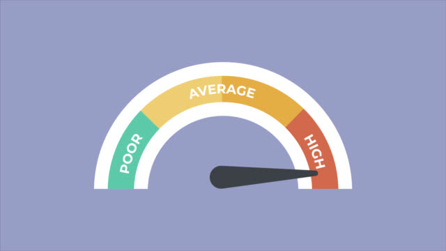 credit score icons - flat animate stockvideo - darlehen stock-videos und b-roll-filmmaterial