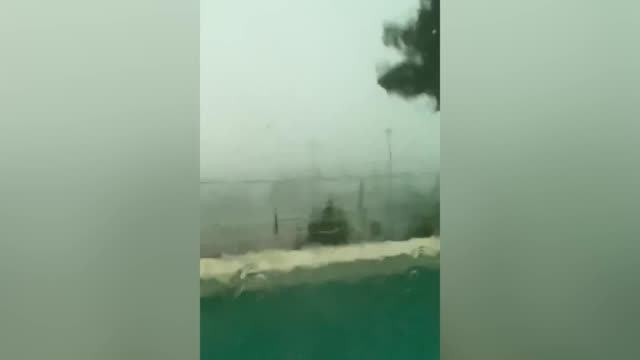@sistersinthe a holidaymaker recorded the moment a tree came crashing through her villa window during severe storms in ibiza sending shards of glass... - illuminated stock videos & royalty-free footage