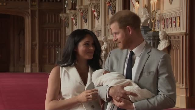 sussex royal for photos and 'arch meets archie' footage archie mountbatten-windsor, will celebrate his first birthday on may 6. he is the son of the... - prince harry stock videos & royalty-free footage