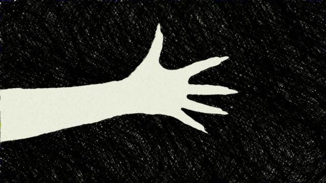 stockvideo's en b-roll-footage met creepy claw many versions - vrouwelijke gestalte