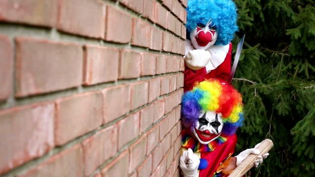 Creepy Clowns Hiding Around Corner