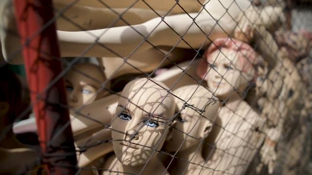 creepy dolls - prison camp stock videos & royalty-free footage