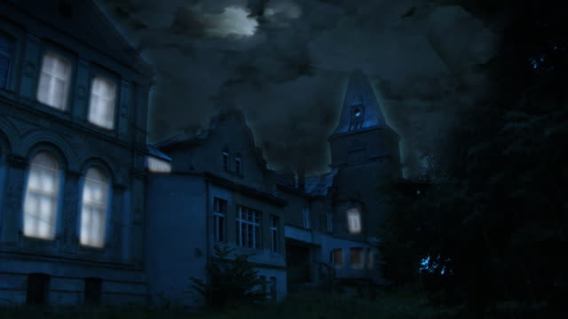 creepy house hd - spooky stock videos & royalty-free footage