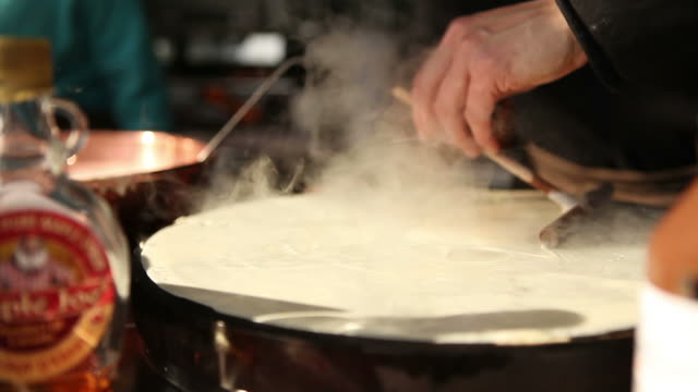 crepe time - pancake stock videos & royalty-free footage