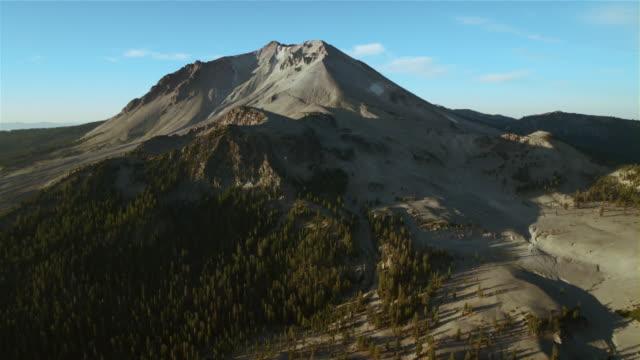 Crescent Crater and Lassen Peak, aerial view.