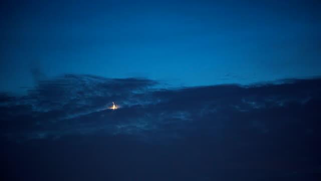 crescent moon - dark blue stock videos & royalty-free footage