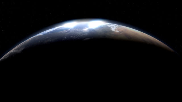 cresent planet die erde vom weltraum - aufprall stock-videos und b-roll-filmmaterial