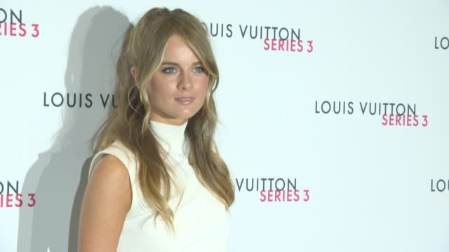 cressida bonas at louis vuitton series 3 vip launch at the strand on september 20 2015 in london england - cressida bonas stock videos and b-roll footage