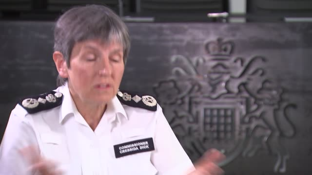 london int cressida dick interview sot re police activity during lockdown - cressida dick stock videos & royalty-free footage