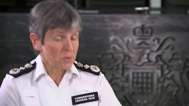 cressida dick interview on policing the lockdown and the death of george floyd england london int cressida dick interview with reporter sot - cressida dick stock videos & royalty-free footage