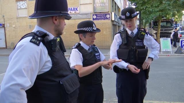 cressida dick launches recruitment drive for metropolitan police cressida dick interview england north london finsbury park ext various of cressida... - 警視庁点の映像素材/bロール