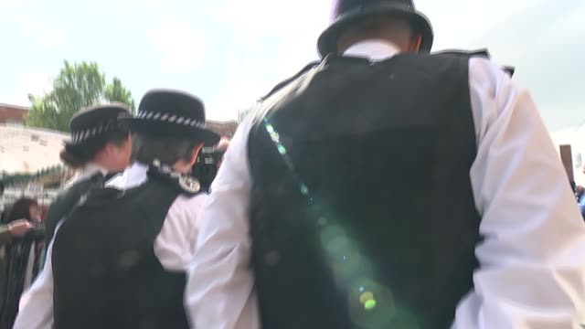 cressida dick walkabout and interview england london lewisham ext cressida dick walkabout with other met police officers / along lewisham high street... - counter terrorism stock videos & royalty-free footage
