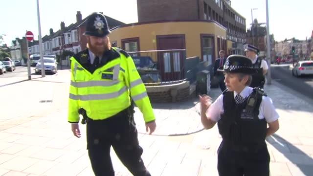 cressida dick walking through south london during the coronavirus crisis - 警視庁点の映像素材/bロール