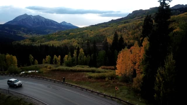 crested butte in the fall - colorado stock videos & royalty-free footage