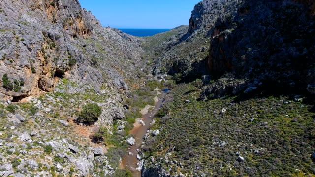 crete landscape - canyon stock-videos und b-roll-filmmaterial