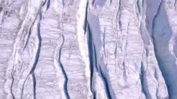 Crevasse on Aletsch glacier - Switzerland