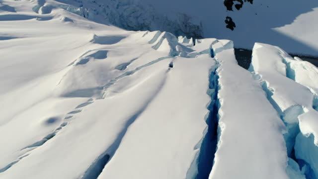 crevasses in antarctica - antarctica aerial stock videos & royalty-free footage