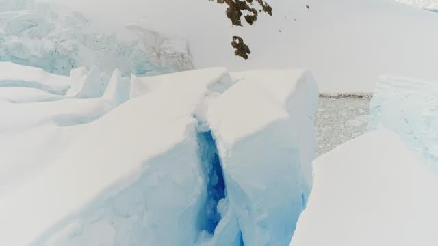 crevasses in antarctica - crevasse stock videos & royalty-free footage