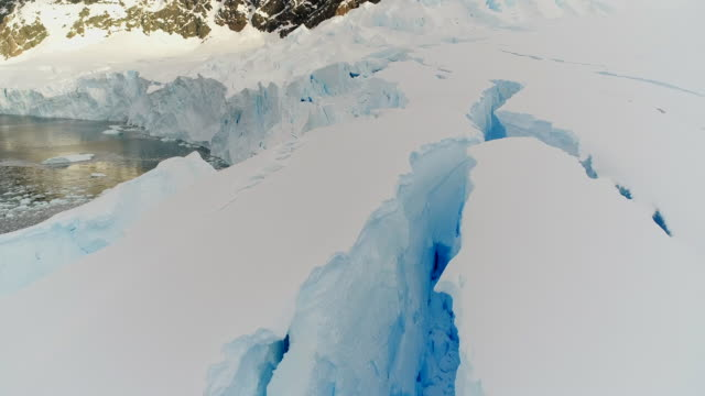 crevasses in antarctica - antarctica stock videos & royalty-free footage