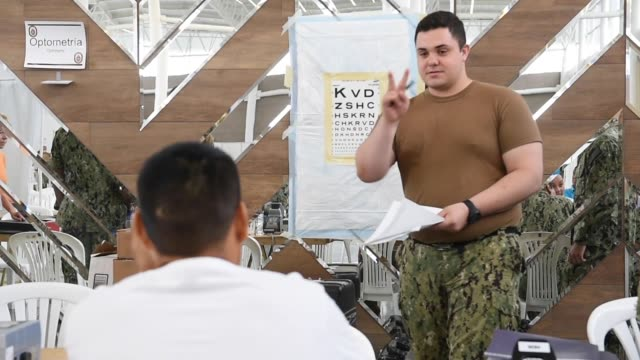 Crew members from the hospital ship USNS Comfort are providing medical services at a US Navy Medical site in Ecuador The medical team will provide...