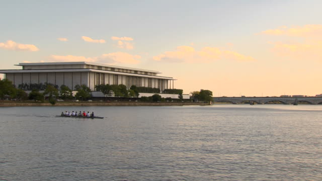 hd crew team_ws1 (1080/24p) - john f. kennedy center for the performing arts stock videos & royalty-free footage