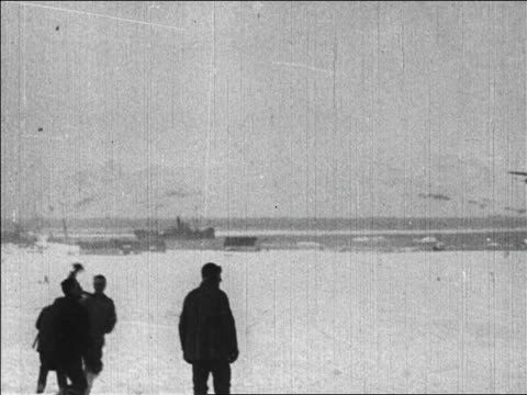 crew tossing hats in air as byrd returns from flight over north pole / news. - 1926 stock videos & royalty-free footage