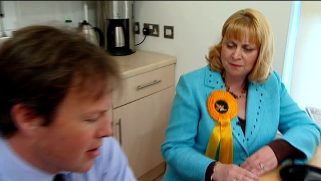 crewe and nantwich by-election; elizabeth shenton interview sot - ナントウィッチ点の映像素材/bロール