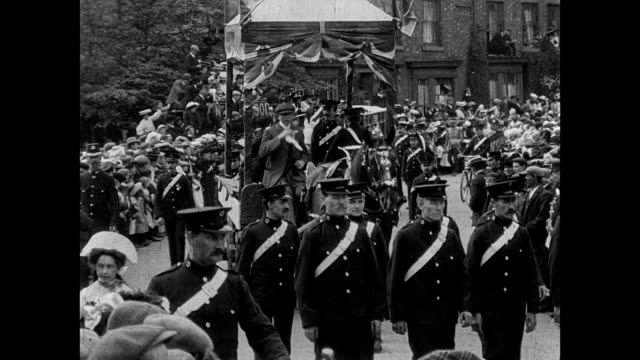 crewe hospital procession and pageant 1907 - 18th century stock videos and b-roll footage