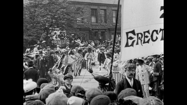 stockvideo's en b-roll-footage met crewe hospital procession and pageant 1907 - edwardiaanse stijl