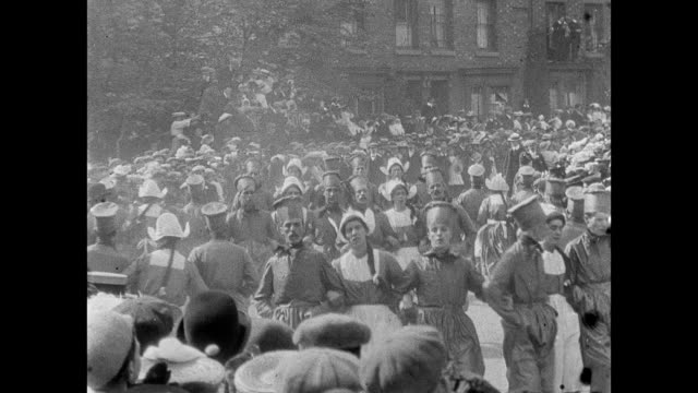 crewe hospital procession and pageant 1907 - england stock videos & royalty-free footage