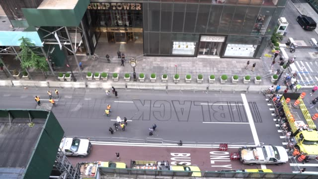 NY: Black Lives Matter Mural Painted On NYC's 5th Avenue In Front Of Trump Tower