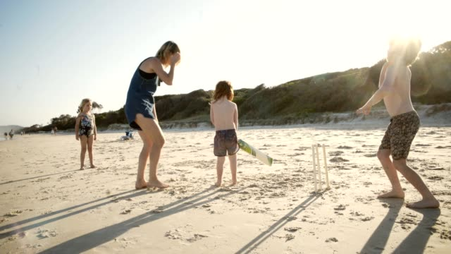 cricket at the beach - australia stock videos & royalty-free footage