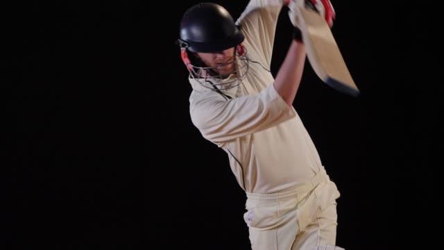 4K: Cricket Batsman hits the ball - Cover drive
