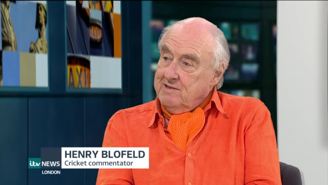 cricket commentator henry blofeld to retire after 45 years england london gir int henry blofeld live studio interview sot - commentator stock videos & royalty-free footage