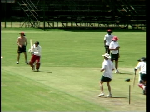 Cricket demonstrations torture allegations ITN Zimbabwe cricketers practicing